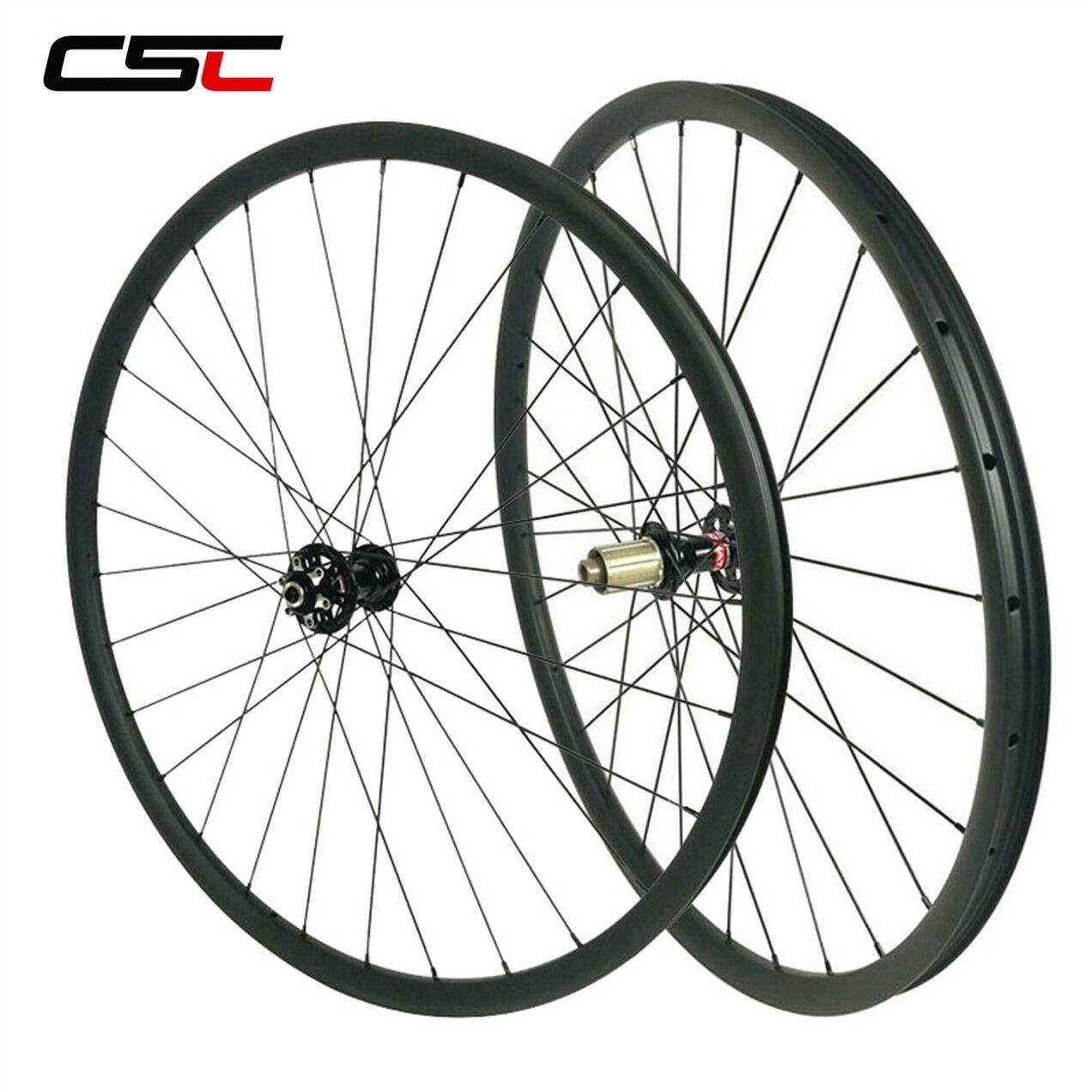 1270g Asymmetric MTB Bike Carbon Wheels 29er 3022 Tubeless XC Hookless Wheelset