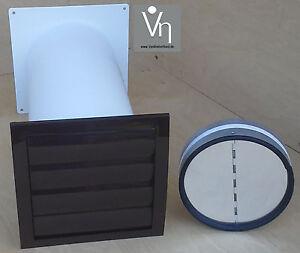 mauerkasten 150 dunstabzug teleskop rohr lamellenverschlussklappe mkwskqlb150 ebay. Black Bedroom Furniture Sets. Home Design Ideas