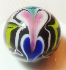 "HANDMADE GLASS MARBLE FLORALS ""LOVE POTION""  22mm SHOOTER"
