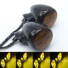 2x 12V Universal Motorcycle Skull 20 LED Rear Turn Signal Light Indicator Amber