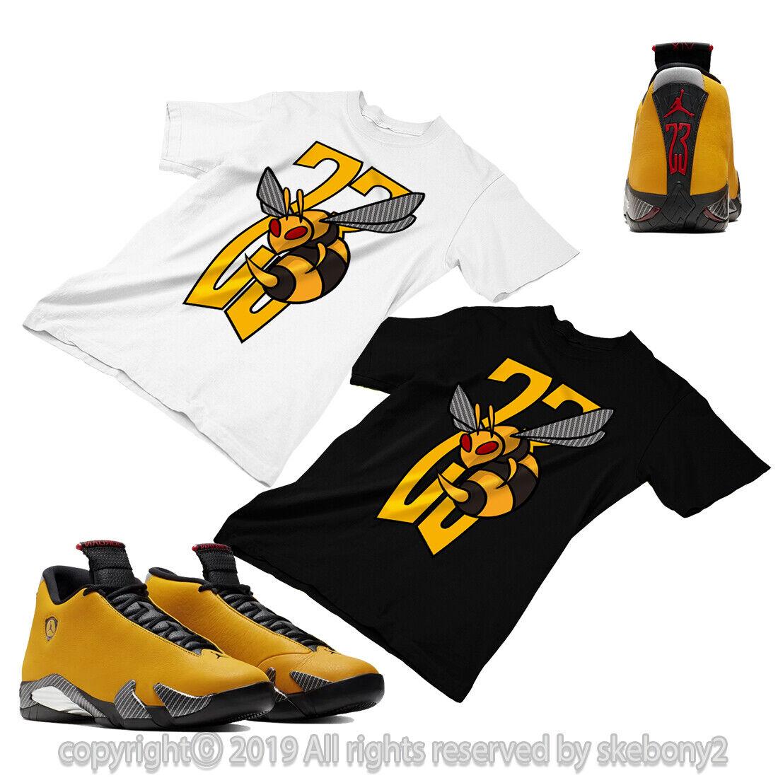 Custom T Shirt Matching Style Of Jordan 14 Reverse Yellow Ferrari Jd 14 3 7 L Ebay