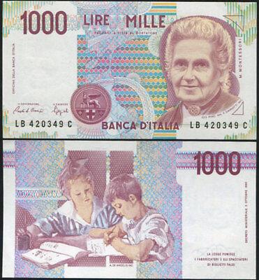 1990 UNC P-114 Lot 5 PCS Italy 1000 1,000 Lire