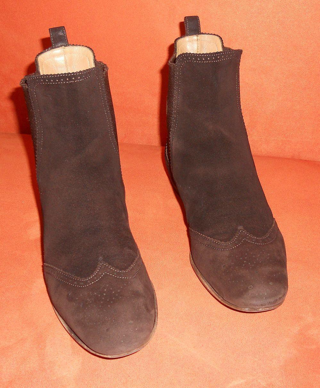 Unützer Stiefeletten Gr. 36,5  EUR 36 Braun Damen Schuhe Boots Leder Leather
