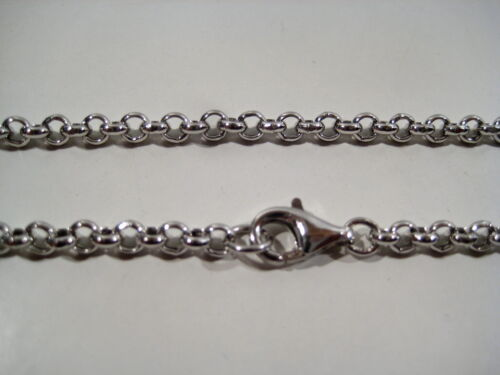 Chain rolo mm 4 genuine silver 925 cm 40 to cm 120 Top quality price
