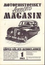 Motorhistoriskt Magasin Annons Swedish Car Magazine 1 1983 Nash 032717nonDBE