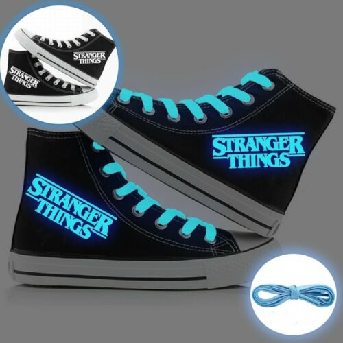 Unisex Stranger Things Luminous Canvas Shoes Bendy High Top Trainers Sneaker