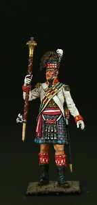 Tin-soldier-Collectible-Tambour-Major-of-92nd-Regiment-54-mm-Napoleonic-Wars