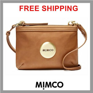 69f7fdc97554 MIMCO SECRET COUCH HIP BAG HONEY WITH GOLD BNWT DUSTBAG RRP 199 DF ...