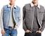 Levis-Vest-Men-039-s-Button-Up-Sherpa-Lined-Multi-Pocket-Denim-Blue-Grey thumbnail 1