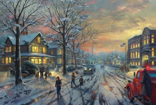 Thomas Kinkade Studios A Christmas Story 18x27 S//N Limited Edition Paper