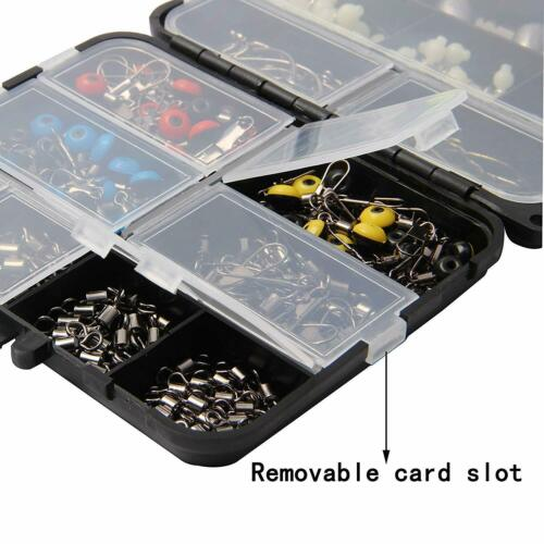 251pcs Fishing Accessories Tackle Kit Jig Hooks Sinkers Swivels For Freshwater