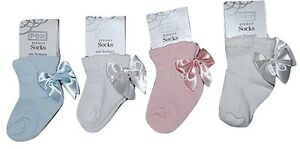 cf8e4d4974e72 Pex Baby Girls Spanish Style Pretty Satin Ribbon Bow Ankle Sock 0 ...
