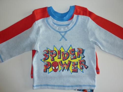 SPIDERMAN/'SPIDER POWER 2 Little Boys Long Sleeve Tops NWT