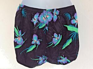 Dolphin-Dolfin-International-Running-Shorts-Nylon-Floral-Unisex-Small-Hibiscus
