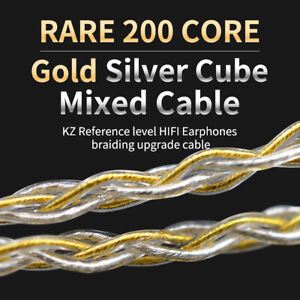 KZ-B-C-MMCX-Pin-Plug-200-Cores-Braided-Earphone-Cable-ZSN-ZST-ZS10-AS10-ES3-Soft