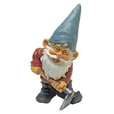 BULLDOZE THE GARDEN GNOME STATUE DESIGN TOSCANO gnome statue  garden gnome