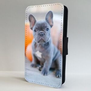 Cute Puppy French Bulldog Flip Phone Case Cover For Iphone Samsung