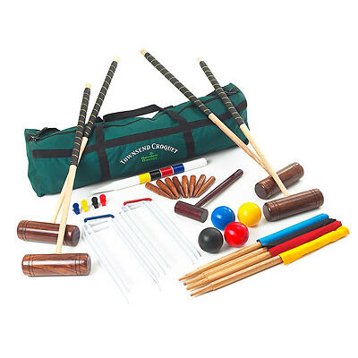 Garden Games Townsend Croquet Set 4 Player in a Bag Game Pro Croquet Set Game