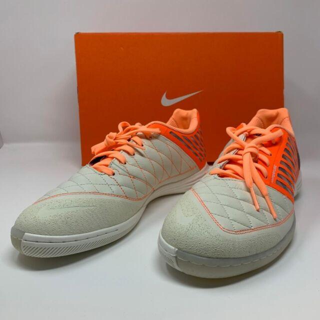 Nike  Lunargato II 2 Low Top Size 9 Orange Indoor Soccer Shoes 580456-128