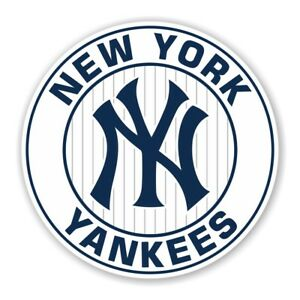 Image Is Loading New York Yankees Round Decal Sticker Die Cut