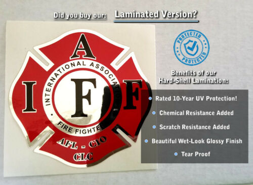 "Reflective Irish 4 Leaf Clover Shamrock Decal Kit 4pcs IAFF Firefighter 2/"" 0280"