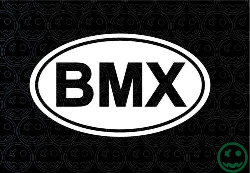 BMX STICKERS INTERNATIONAL OVAL BIKE 150MM WIDE BMX RACERS JUMPERS GT CAR o)