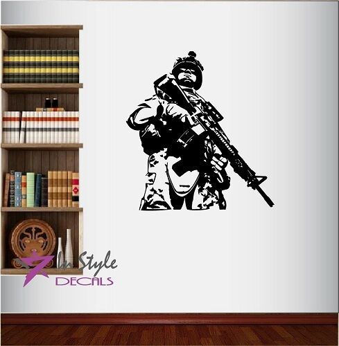 Vinyl decal flag usa soldier military service man army weapons wall sticker 79 ebay