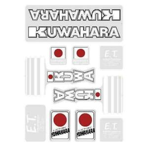 ET bmx decal set Kuwahara Old school bmx