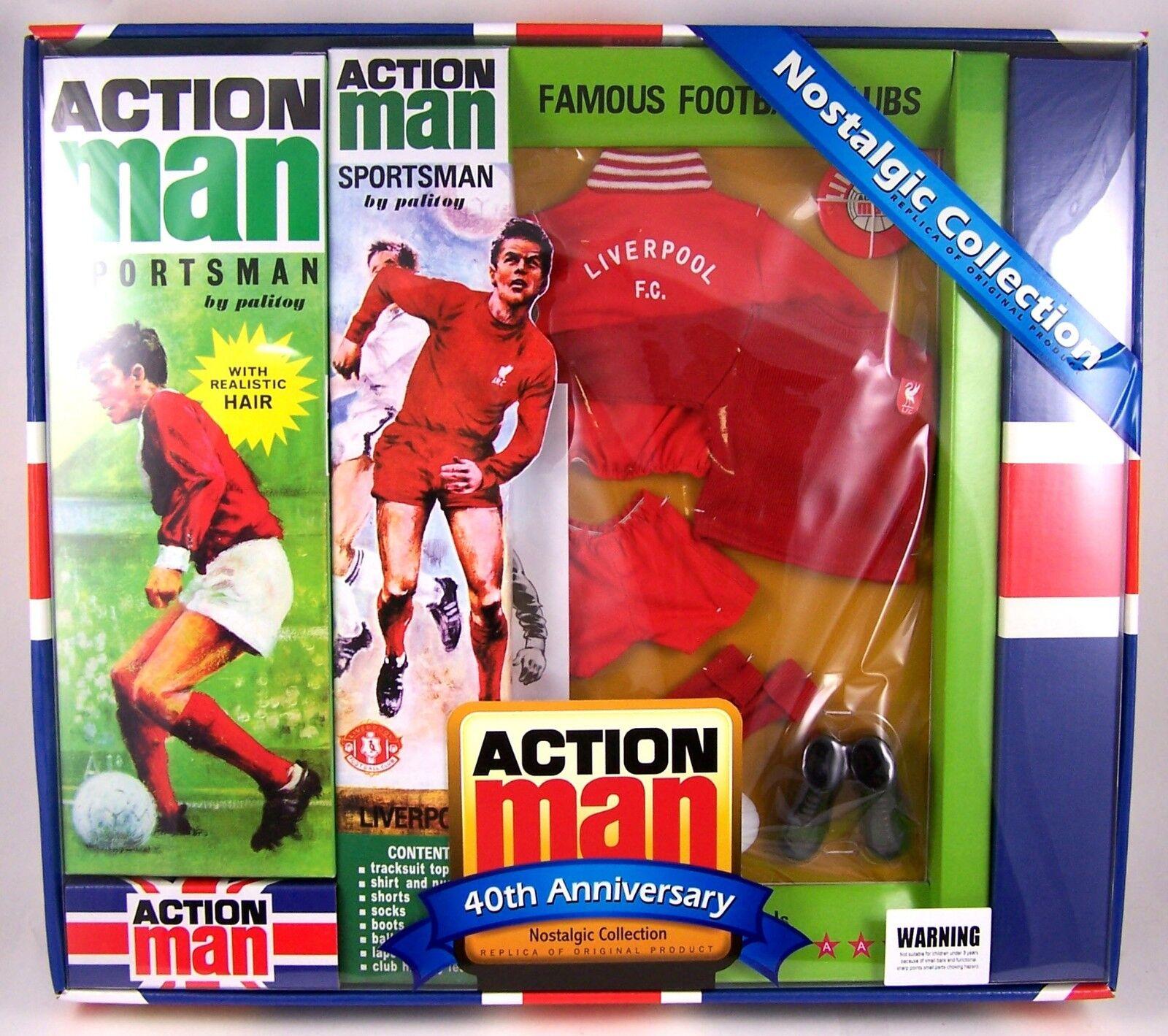 Action Man 40 e årsdagen Liverpool fotboll Set AM40 -LIVP