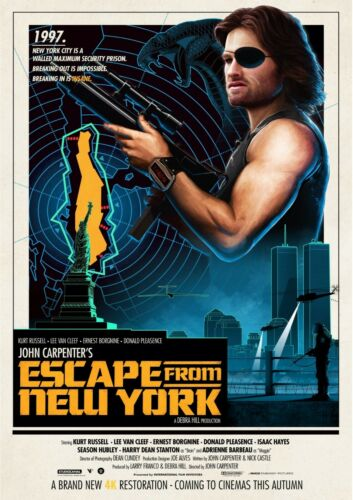 Escape From New York Poster Glossy 240gsm Size A1 A2 A3 A4 Framed or Unframed
