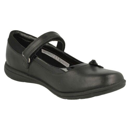 Clarks Estrella Niña Escuela Empresa Charol Zapatos Cuero Negro rrOav