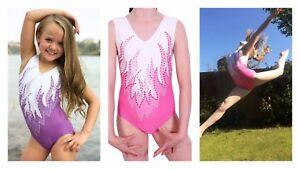 Zoom Neon Rainbow Lycra Girls Gymnastics leotard
