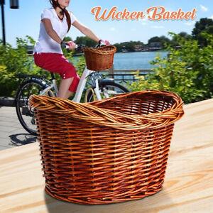 Weidenkorb-Radkorb-Fahrrad-Lenker-Korb-Weide-Rattan-Einkaufskorb