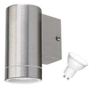 Cool-White-LED-Modern-Stainless-Steel-LED-Single-Outdoor-Wall-Light-Energy-Saver