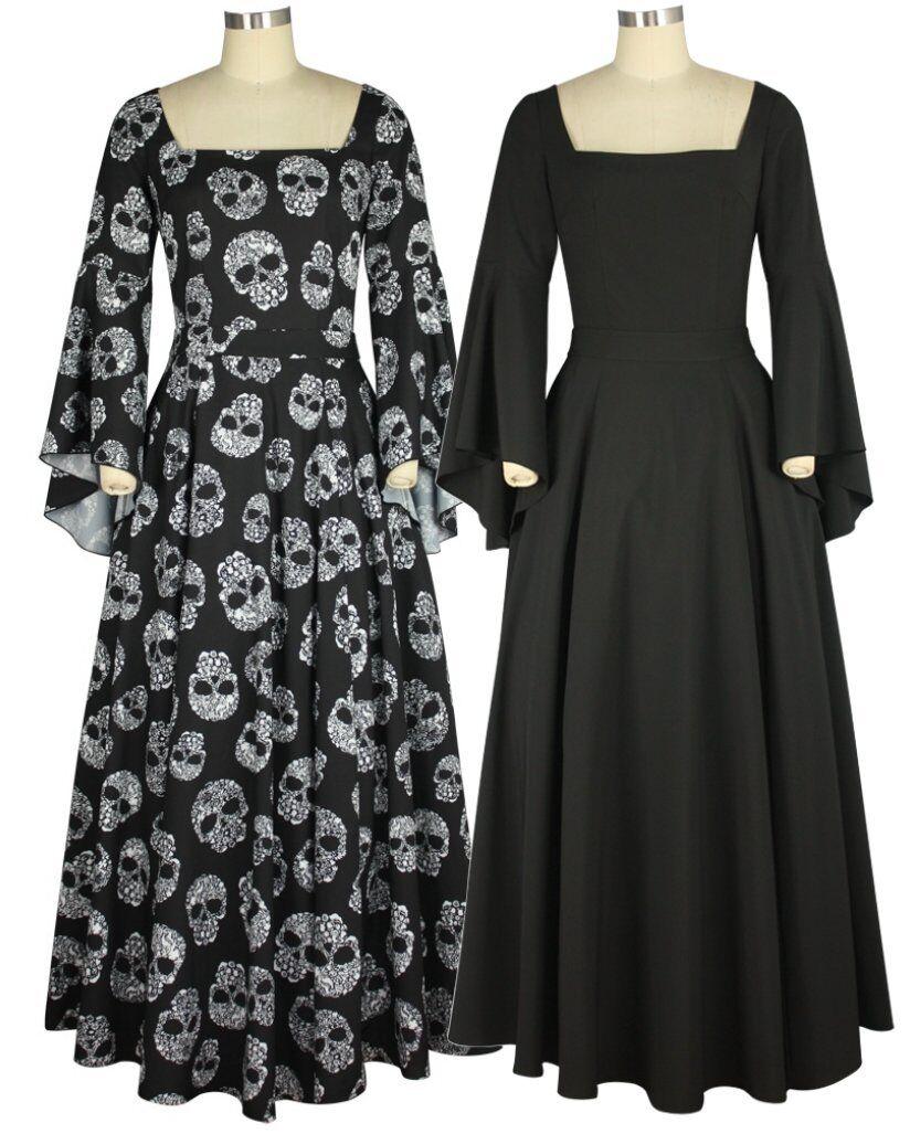 sommerkleid lang schwarz gothic