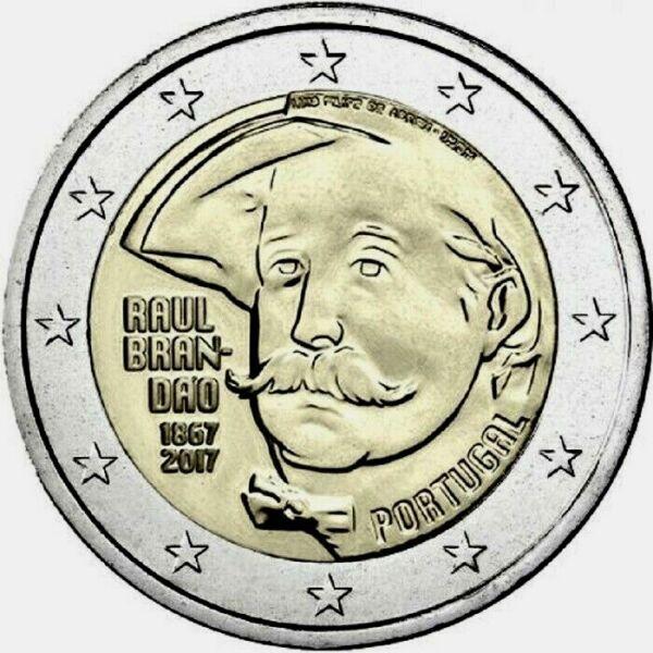 2 Euros Portugal 2018 150 Ans De La Naissance De L'écrivain Raul Brandão
