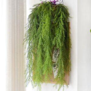 Wandbehang-Dekor-Kuenstliche-Blumen-Kiefer-Nadeln-Fake-Gruen-Pflanze-Usefu-iGRYp