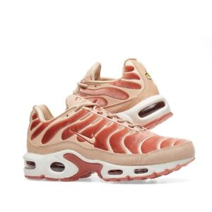 Details about NIKE AIR MAX PLUS LX VELVET WOMEN'S Dusty PeachBio BeigeSummit White Sz 8.5