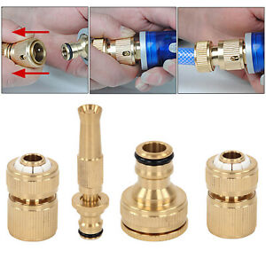 4pcs-set-Brass-Hose-Pipe-Fitting-Set-Garden-Tap-Quick-Connectors-amp-Spray-Nozzle