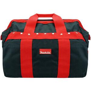 """Makita P-46305 Tradesman's Holdall Hard Wearing Canvas Tool Bag Black/Red 16"""""""