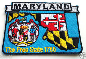 MARYLAND-STATE-MAP-Biker-Patch-PM6721-EE
