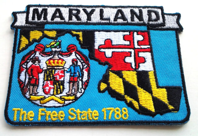 *** MARYLAND STATE MAP *** Biker Patch PM6721 EE