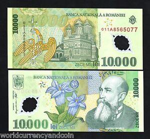 ROMANIA 10,000 10000 LEI 2000 P 112 POLYMER UNC