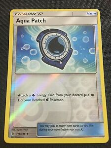 Aqua Patch 119//145 Pokemon Guardians Rising HOLO NM Card