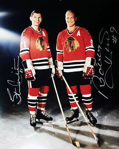 Bobby Hull and Stan mikita 8x10 Autographed Photograph - Chicago Blackhawks
