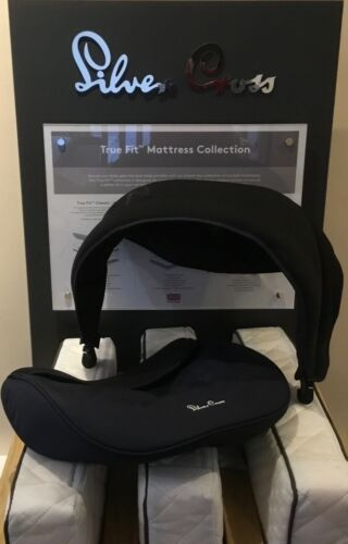 Silver Cross Simplicity Car Seat Hood And Apron Set Vintage Blue Brand New Sale!