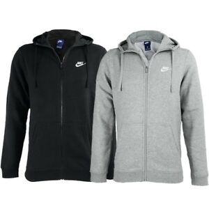 ea439525339e Nike Sportswear Fullzip Hoodie men s sweat jacket black gray hooded ...
