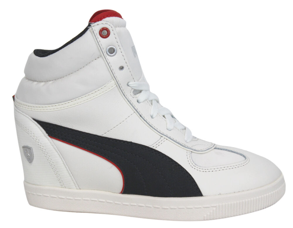 Puma SF Wedge Selection Ferrari Womens Shoes White Leather 305519 02 P3