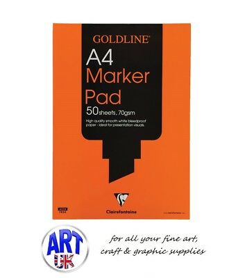 Clairefontaine Goldline Artists TYPO-DETAIL PADS 53gsm Bleedproof Paper 50 sheet