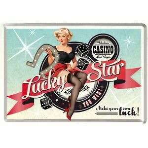 FORTUNATO-Star-PIN-UP-Cartolina-LATTA-TARGA-DI-METALLO-TIN-Card-SIGN-10-x-14-cm